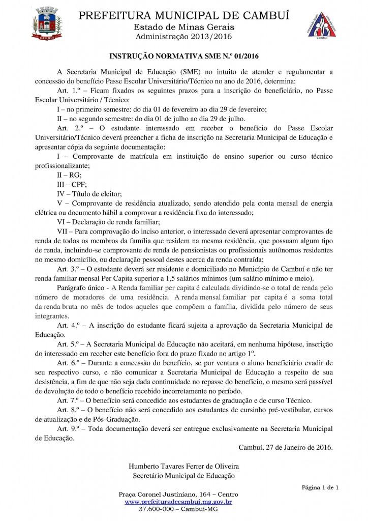 Instrucao Normativa ajuda estudante 01 2016