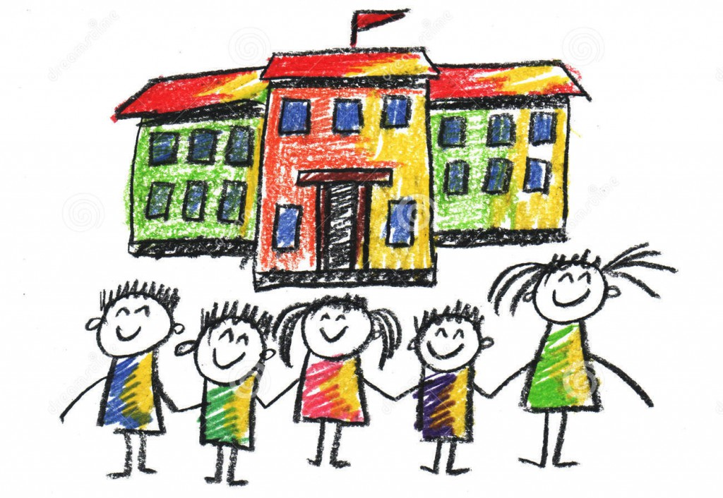 http://www.dreamstime.com/stock-images-school-happy-children-picture-kids-playing-near-kids-drawing-style-image56394884