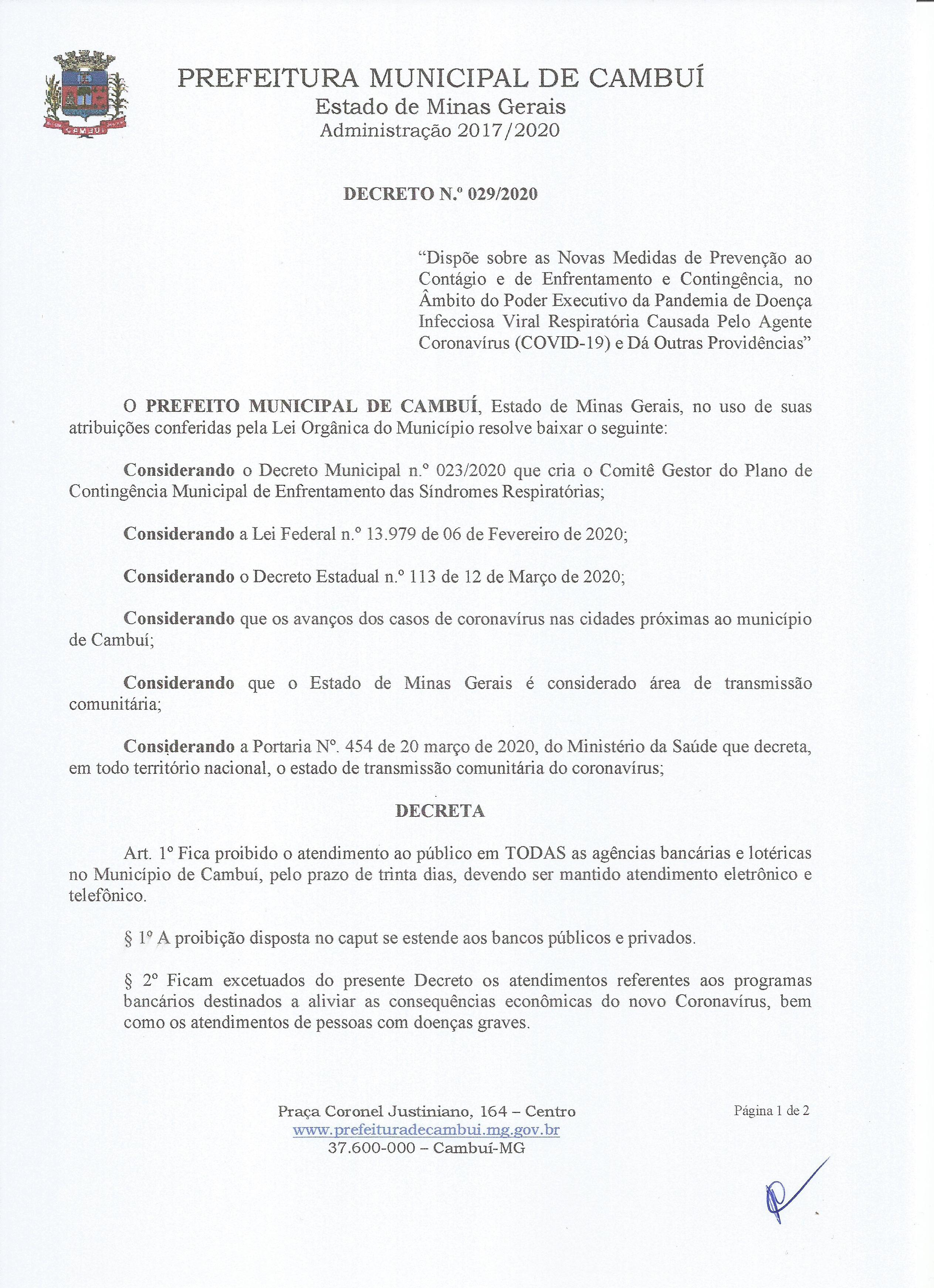 Decreto 029.2020-01