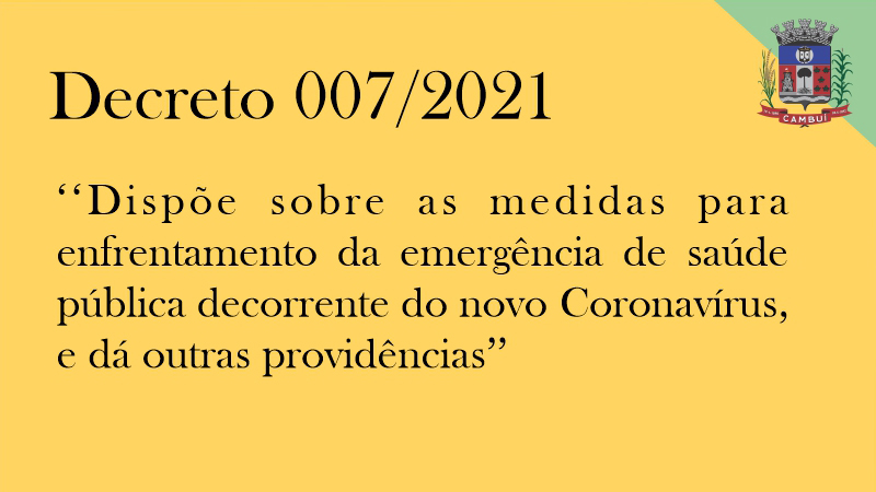 Decreto 007/2021