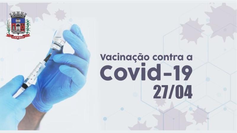 NOTA INFORMATIVA VACINAÇÃO COVID ( 27/04/2021 )