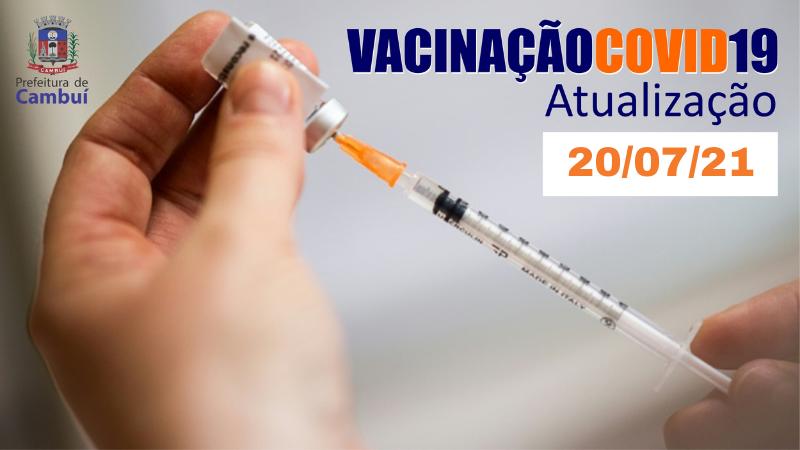 NOTA INFORMATIVA VACINAÇÃO COVID DE 20/07/2021